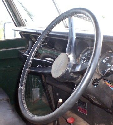 Classic High Grip Leather Steering Wheel Cover / Glove Land Rover Series 3