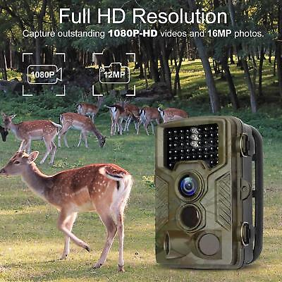 HC800A 1080P 16MP Video Hunting Camera Night Vision 42 LEDs IR Trail Cam Trap US