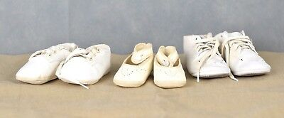 Vintage Lot Of 3 Mrs. Day's Baby Ideal Shoes
