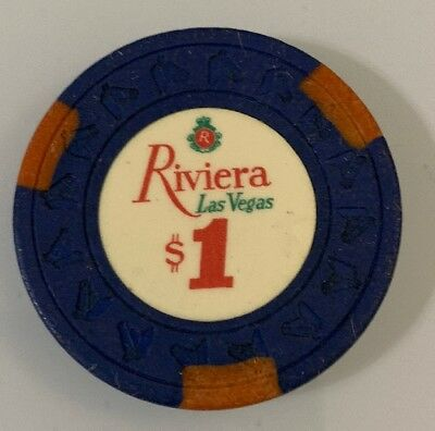 Riviera $1 Casino Chip Las Vegas Nevada 2.99 Shipping