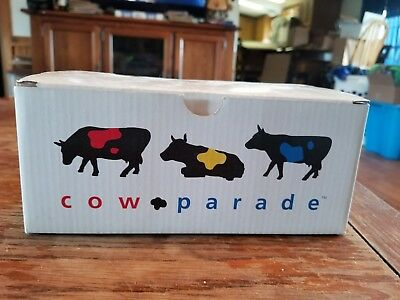 2001 Westland Giftware Cow Parade Ceramic COWBELL #9203 in Box with Tag