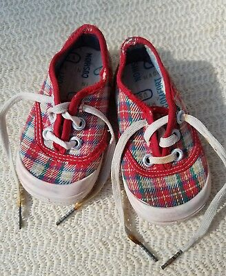 Vintage Keds sneakers toddler size 2 plaid canvas