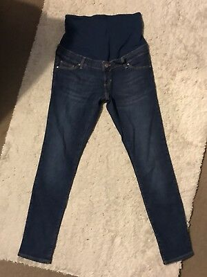 Topshop Women's Maternity Leigh Blue Over Bump Skinny Jeans, 10 L32