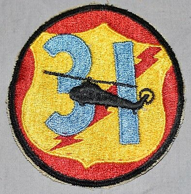 31st Aviation Helicopter Company Pocket Patch VIETNAM ERA US ARMY KHAKI CUT EDGE