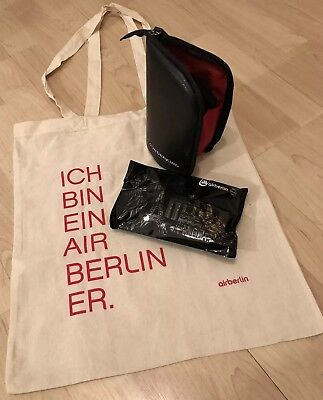 Air Berlin FanPaket - 1xStoffbeutel + je 1x Amenity Kit Business und Economy NEU
