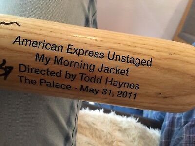 "American rock band ""My Morning Jacket"" signed Bat"