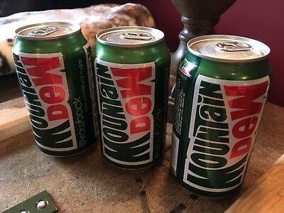 3 x Mountain Dew Throwback 2009 era 12oz Sodas Can Full Unopened (Three cans)