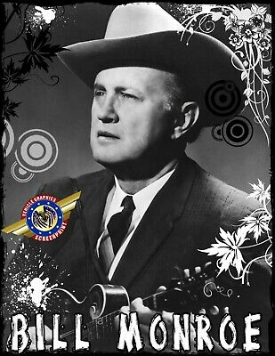 "Bill Monroe "" Country, Rock Star "" Personalized T-shirts"