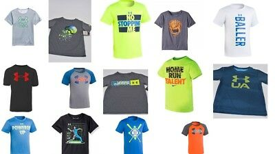 New Under Armour Little Boys Toddler Heat Gear Tee-Shirt [Choose Color & Size]
