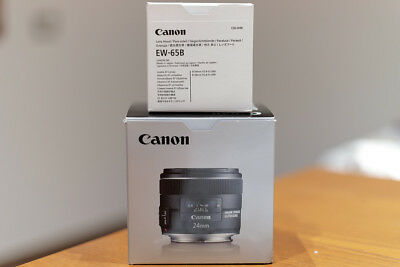 Canon EF 24mm f/2.8 IS USM Prime Lens and Lens Hood - Excellent Conditions