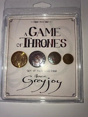 A Game Of Thrones House Greyjoy Coin Set Shire Post Mint