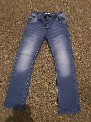 Boys Next Aged 4-5 Years Pull On Jeans Aqua Super Star