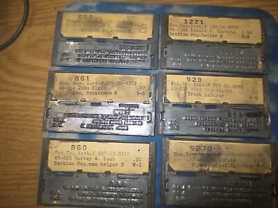 NEW YORK CENTRAL Railroad EMPLOYEE Plate Marker PAYCHECK TYPE PLATE