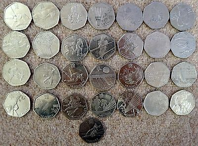 50p Fifty Pence OLYMPIC GAMES LONDON 2012 Football Triathlon Judo Wrestling etc