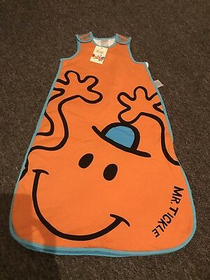 Baby Boys Sleeping Bag Brand New 0-6 Months 2.5 Tog Orange Mr Tickle Mr Men