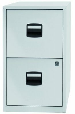 Bisley Steel 2 Drawer Filing Cabinet - Chalk White