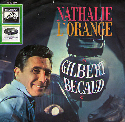 SINGLE  GILBERT  BECAUD -  NATHALIE ,7inch