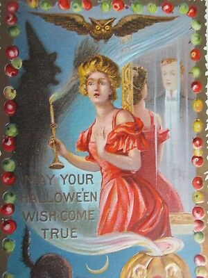 Antique Halloween Postcard-Dated 1909 M.W. Taggart- Killer Image