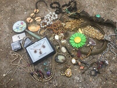 Lot of Vintage Jewelry (couple sterling pieces)