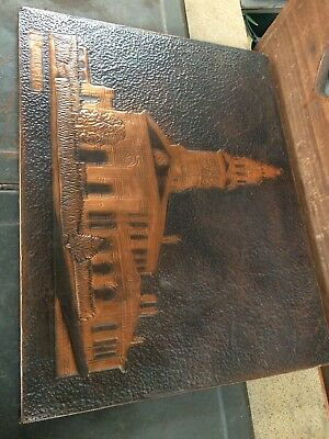 Vintage Artists Copper Plaque.  Inverell Court House. Dated And Signed 1978