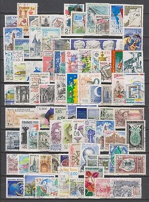 Bon Lot De 200 Timbres Francais Grand Format Differents 2 Scans Bonne Cote