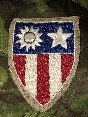 ORIGINAL WW2 THEATER MADE CBI PATCH, China Burma India, UNUSED