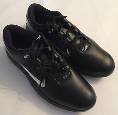 6804d75b0eff New Mens Nike Tiger Woods Air Zoom Tw71 Black Golf Shoes Aa1990-002 Size  10.5