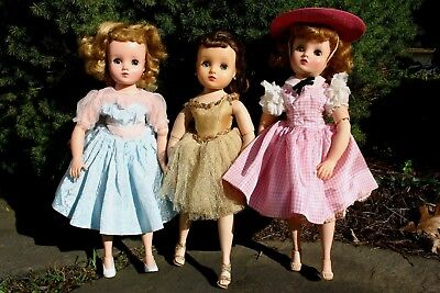 Vintage Madame Alexander Lot 3 Elise Dolls Tagged Clothing Accessories