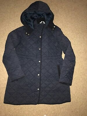 Jojo Maman Bebe Quilted Woman's Navy Blue Maternity Jacket Size 10