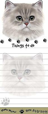 """""""Persian Cat Magnetic List Pads"""" Uniquely Shaped Sticky Notepad"""