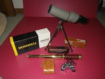 Coll.of optical items,Bushnell competition spotting scope,opera glasses,spyscope