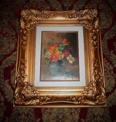 Lovely Vintage Floral Still Life Oil Painting Signed H. Hamilton Falise