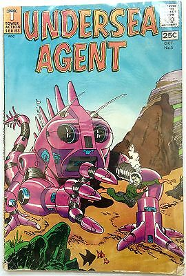 Vintage 1966 Undersea Agent #5 Silver Age Tower Comic Book ~ Vf+ Condition