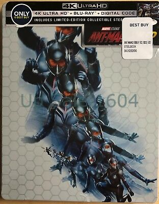 Ant-Man and The Wasp 4K+Blu-ray+ Digital (SteelBook) New OPP