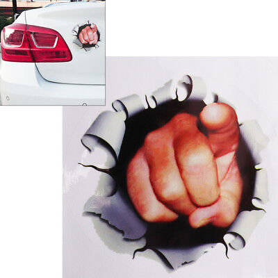 17CM 3D Stereoscopic Car Styling Creative Fist Point at You Pattern Car Stickers