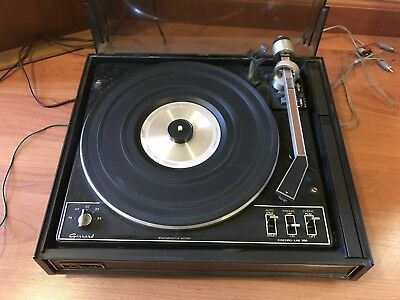 GARRARD SYNCHRO LAB 95B Vintage Turntable Record Player Works Manual Dust  Cover