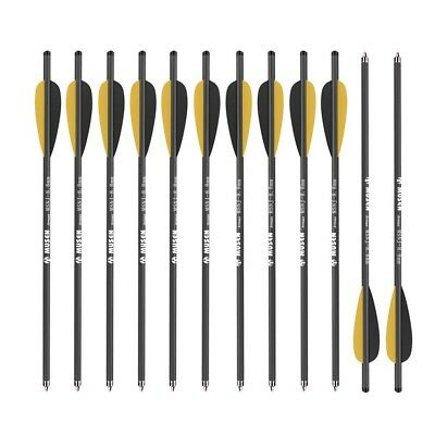 """MUSEN 20"""" Hunting Archery Carbon Arrow Crossbow Bolts Arrows Feather and Replace"""