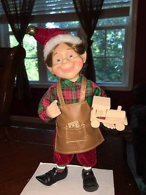 10 Inch Tall Christmas Toy Maker Elf