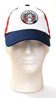 Adidas USA Red White & Blue Baseball Cap Hat Adjustable Men's One Size NWT