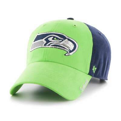sports shoes a2317 4243a Seattle Seahawks  47 Brand Ladies Sparkle 2-Tone Clean Up Adjustable Hat