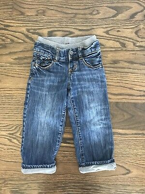 Baby Gap 1969 Jersey Lined Jeans Pockets Size 18-24 Months Toddler Warm Winter