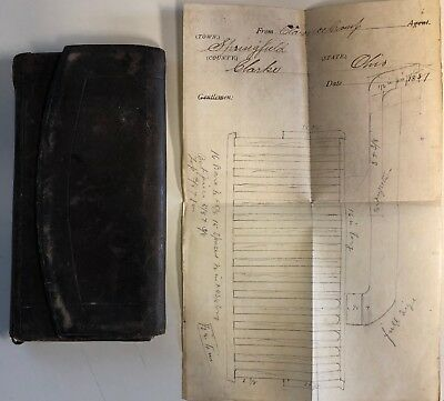 Antique 1881 Springfield, Ohio Handwritten Diary + Hours Worked & Expenses