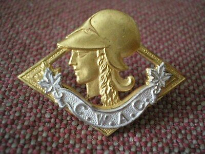 WW2 Canadian Women's Army Corps Officers Collar Badge by Scully of Montreal