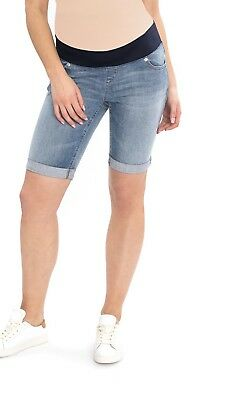 0106f9795db5f NWT Maternity Bermuda Jean Shorts Size M Medium 8 10 Great Expectations NEW
