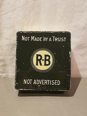 R-B Hand Made Cigar Tin Claro Not Advertised 12 Count Factory 1002 9Th Dist. Pa