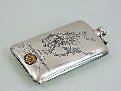KERR STERLING / 14K GOLD ALCOHOL FLASK California Trapshooters Association 1927