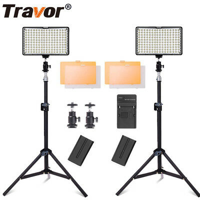 LED Video Light Photography Video Studio Camera Lighting + Light Stand+Battery