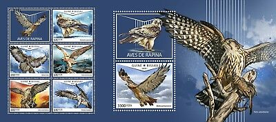 Z08 GB18604ab GUINEA-BISSAU 2018 Birds of prey MNH ** Postfrisch Set