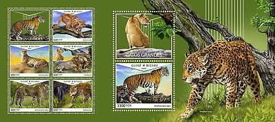 Z08 IMPERF GB18601ab GUINEA-BISSAU 2018 Big cats MNH ** Postfrisch Set