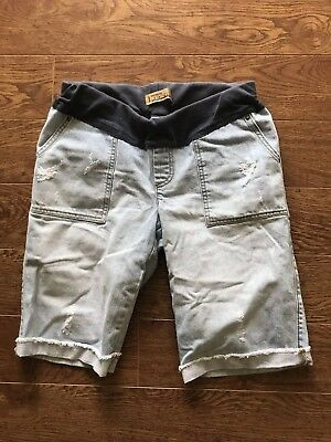 Old Navy Maternity Small Blue Jean Shorts Small  Distressed Worn